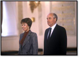 Р. Горбачева и М. Горбачев