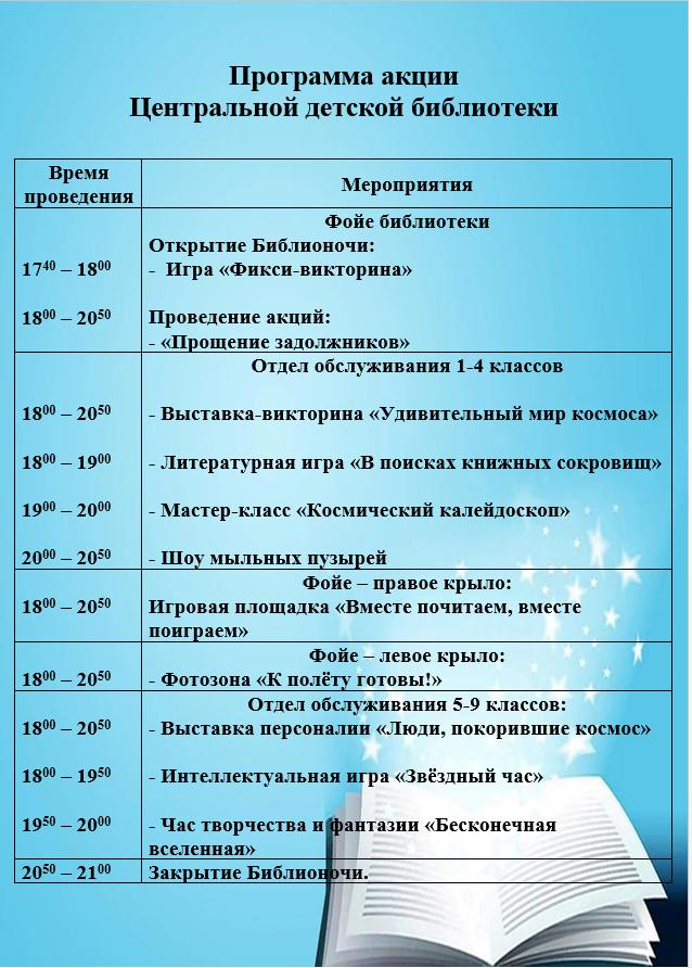 Программа ЦДБ